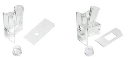 Citofunis reutilizáveis para 0,5 mL ou 6 mL de amostra.
