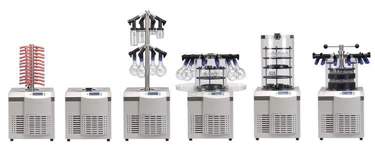 Liofilizador de laboratório, de bancada adequado para processos de liofilização com até 4 kg gelo em 24 hrs
