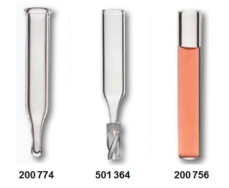 inserts para vials para cromatografia volume 4 mL
