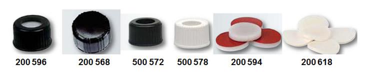 Tampas para vials para cromatografia volume 4 mL