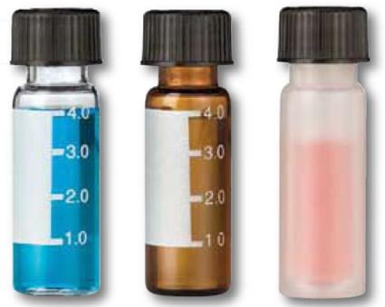 Vials para cromatografia volume 4 mL