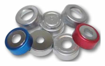 tampas Bi-metal combinam um imã magnético com a facilidade da abertura e fechamento do vial com eficiência