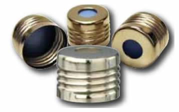 tampas em rosca oferecem uma abertura de 18 mm e são recomendadas para uso em ambiente de campo