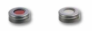 tampas para vials Headspace possuem fechamento crimp e rosca