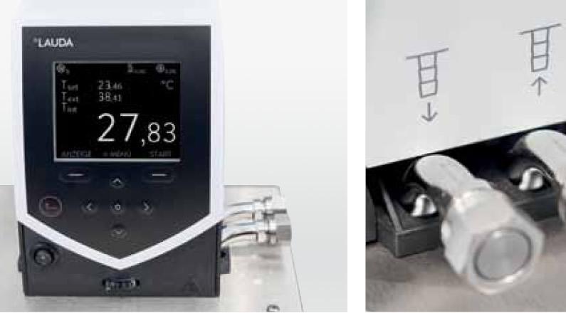 Banho termostático com display monocromático em LCD (linha Silver) ou colorido em TFT (linha Gold)