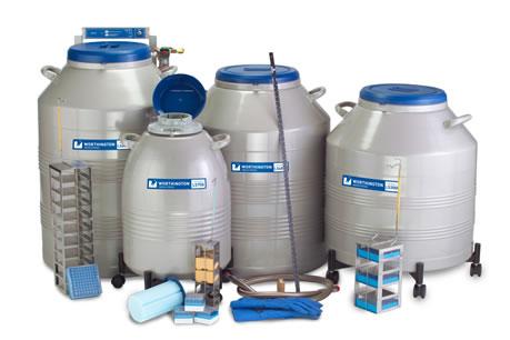 Containers para armazenamento de amostras em racks série LS