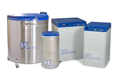 Sistema de criogenia em nitrogênio líquido ou vapor de nitrogênio – série K