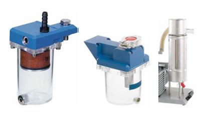 Acessórios de bomba palhetas rotativas e híbridas: controlador, frasco coletor, filtro de exaustão, condensador marca Vaccubrand