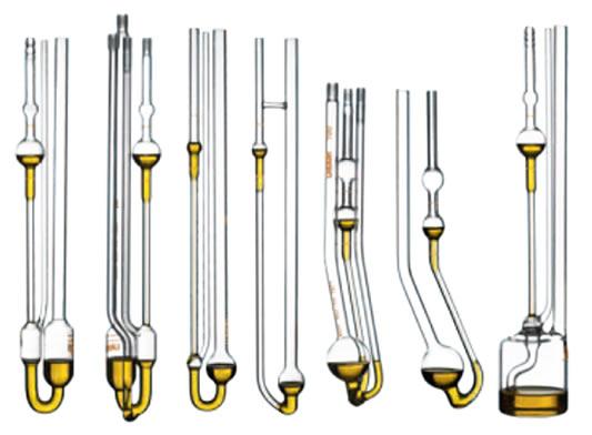 Capilares de vidro Ubbelohde, Micro-Ostwald e Cannon-Fenske, calibrados e não calibrados, marca Lauda