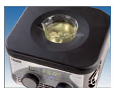 Agitação magnética com 9 níveis de ajuste