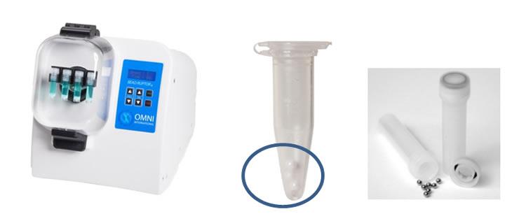 Homogeneizador de amostras modelo Bead Ruptor 4 para lise de tecidos humanos e animais, plantas, alimentos e microorganismos