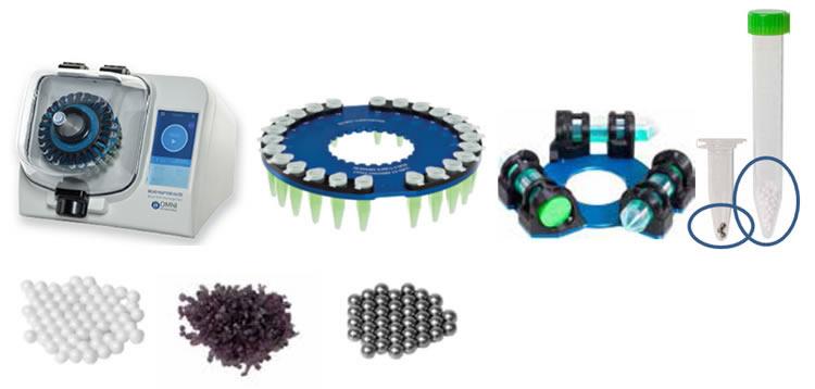Homogeneizador Modelo Bead Ruptor 24 para extração de DNA e RNA, homogeneização de tecidos, separação de enzimas, purificação de proteínas, testes de controle de qualidade de alimentos, detecção de drogas, qPCR, RT-PCR