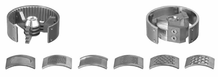Rotores intercambiáveis e peneiras