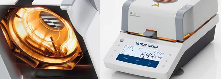 Analisador de umidade para medições rápidas em poucos minutos