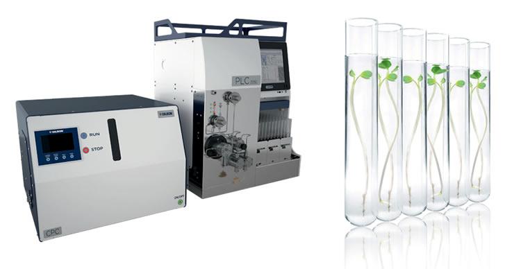 Sistema de Purificação com PLC usando Coluna de Cromatografia por Partição Centrífuga (CPC) – marca Gilson