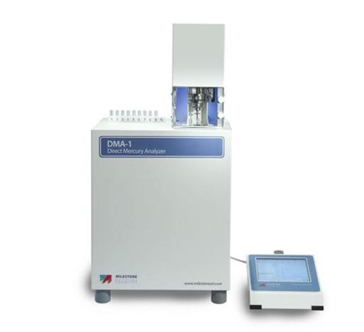 O DMA-1 da Milestone é um analisador direto de mercúrio para amostras sólidas, líquidas e gasosas
