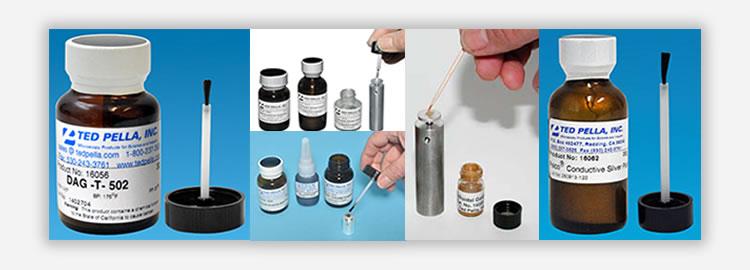 Tintas e colas microscopia