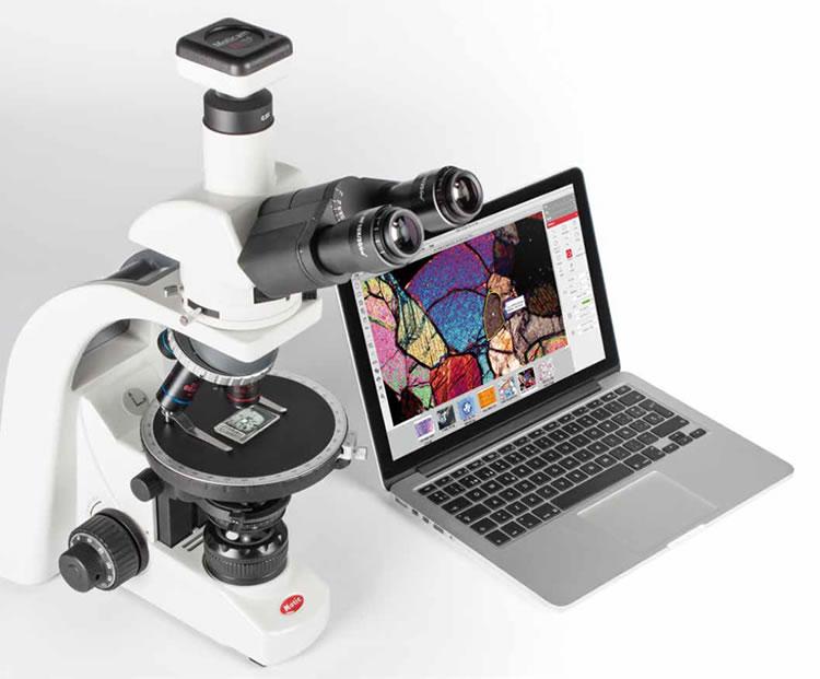 microscópio petrográfico
